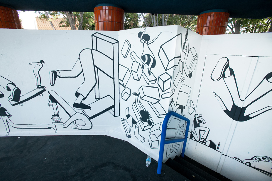Geoff McFetridge Mural @ West LA Courthouse (with help from NIKE SB): mural-25.jpg
