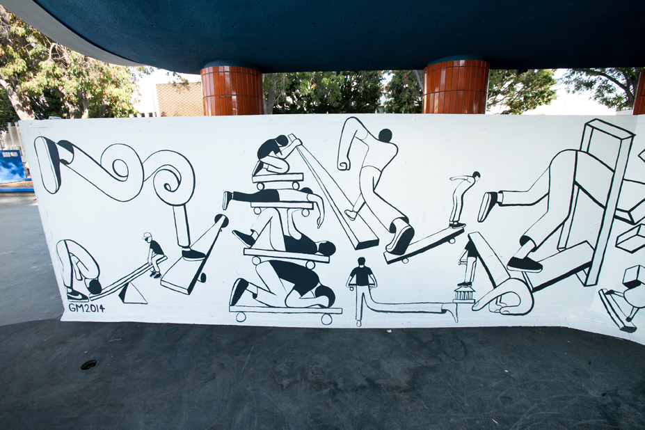 Geoff McFetridge Mural @ West LA Courthouse (with help from NIKE SB): mural-26.jpg