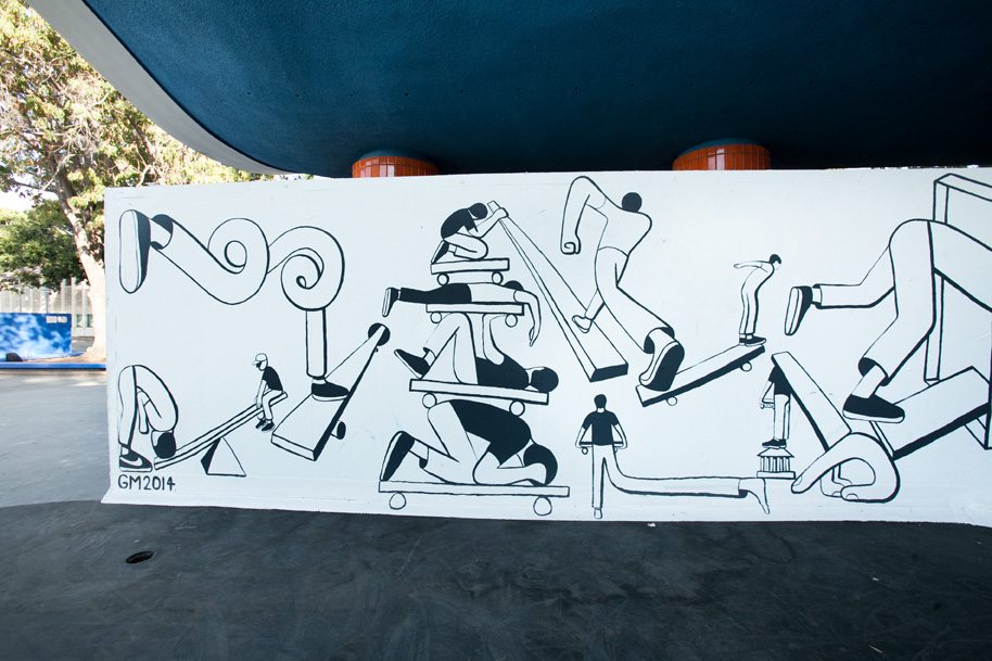 Geoff McFetridge Mural @ West LA Courthouse (with help from NIKE SB): mural-27.jpg