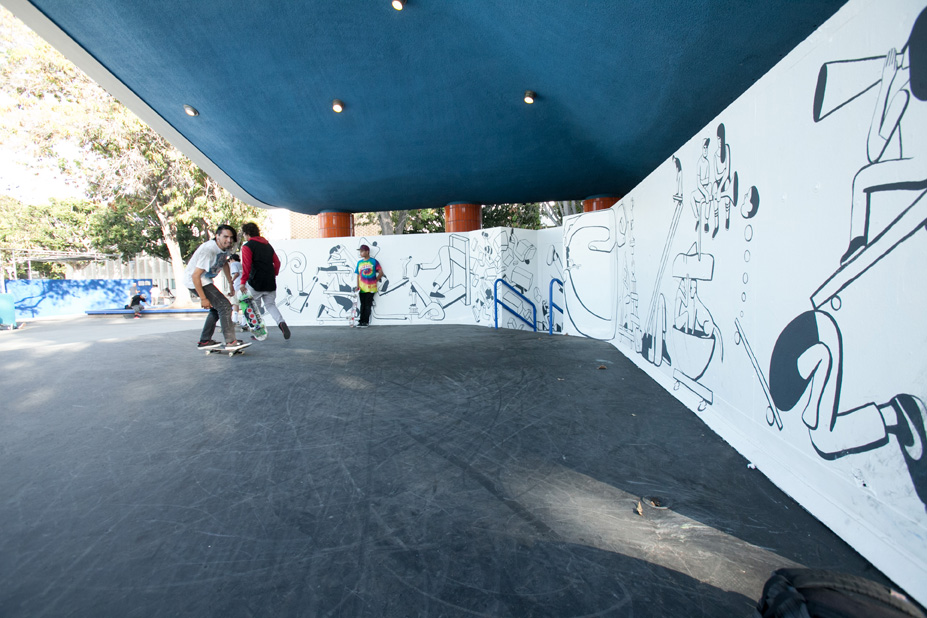 Geoff McFetridge Mural @ West LA Courthouse (with help from NIKE SB): mural-44.jpg