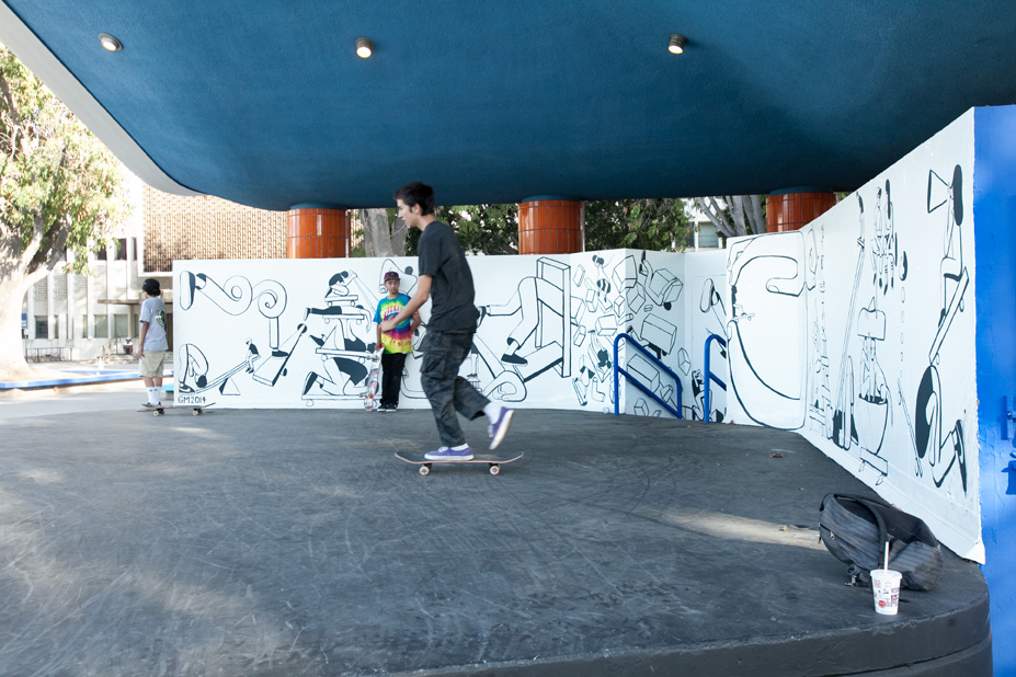 Geoff McFetridge Mural @ West LA Courthouse (with help from NIKE SB): mural-45.jpg