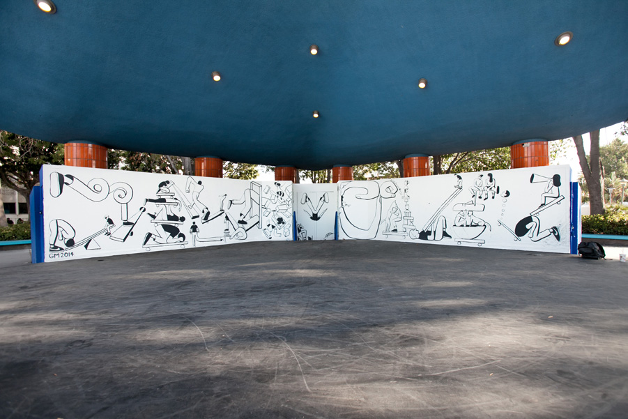 Geoff McFetridge Mural @ West LA Courthouse (with help from NIKE SB): mural-7.jpg