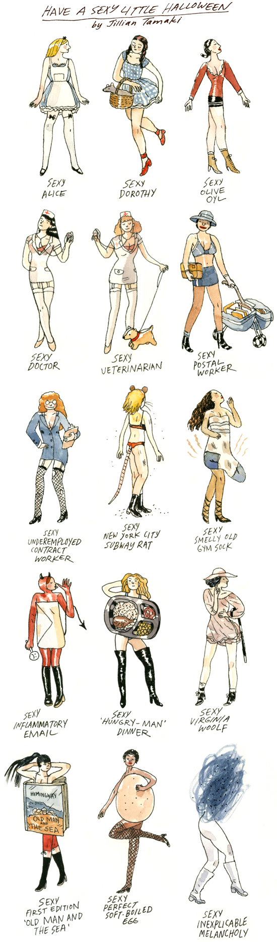 Jillian Tamaki Finds Humor in Sex: sexyhalloween.jpg