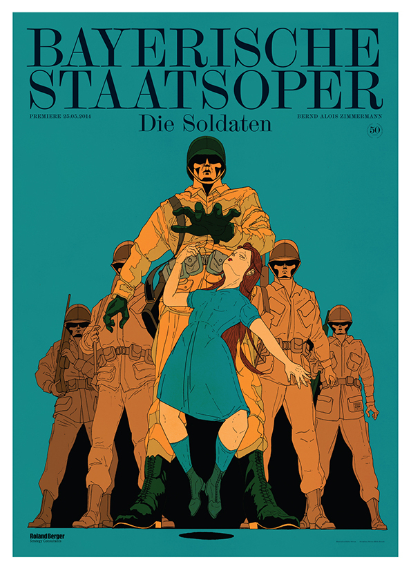 New Show: 'Five Years of Work By Stefan Glerum': National-Opera-Of-Munich_die-Soldaten_50x70.jpg