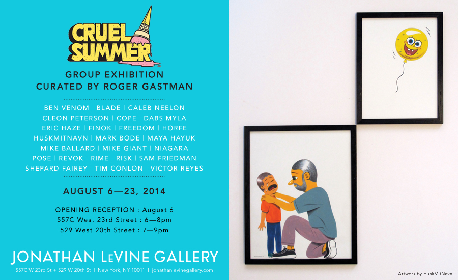 Cruel Summer curated by Roger Gastman @ Jonathan LeVine Gallery, NYC: -1.png