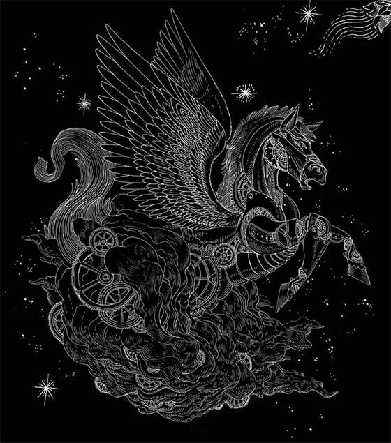 Iain Macarthur Illustration: Celestial Watches part1 copy pegasus_905.jpg