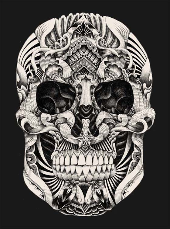 Iain Macarthur Illustration: pattern-skull-shade-2.JPG