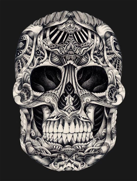 Iain Macarthur Illustration: tribal-skull-2-version-low-res.jpg