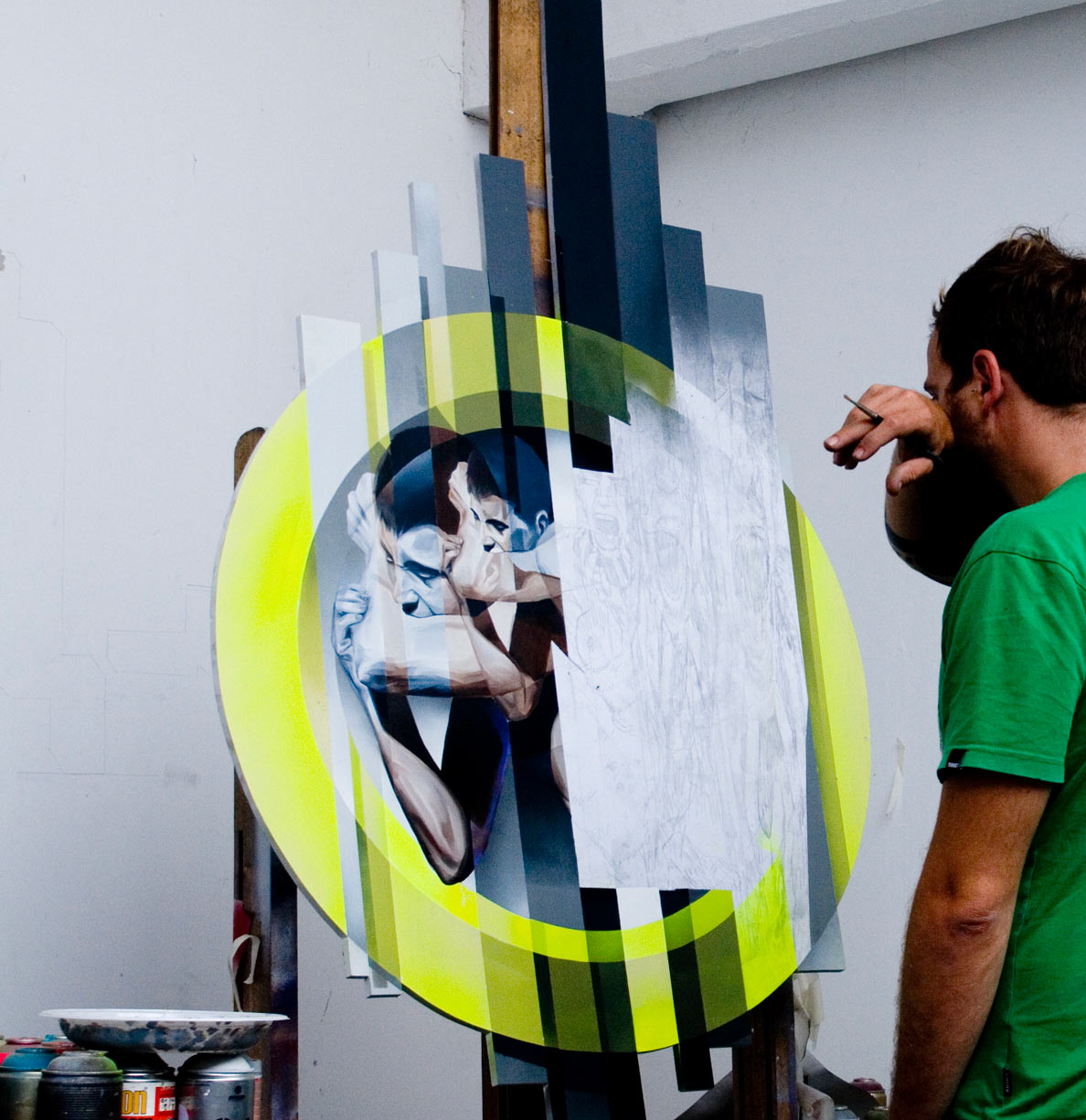 "Morten Andersen & Vesod ""Remix Every Second"" @ C.A.V.E. Gallery: CAVE_Vesod_Yell_progress_2014.jpg"