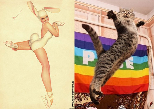 Cats That Look Like Pinup Girls: Juxtapoz-CatsPinUp001.jpg
