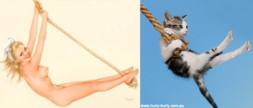 Cats That Look Like Pinup Girls: Juxtapoz-CatsPinUp010.jpg