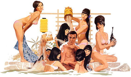 The Work of Robert McGinnis: you only live twice robert mcginnis altered artwork bath.jpg
