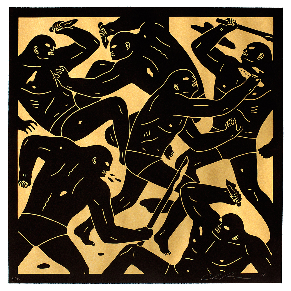 "Cleon Peterson ""Masters of War"" Print: Silver and Gold Edition: CLEON-PRINT-AUGUST-GOLD-111.jpg"