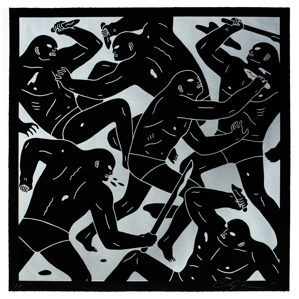"Cleon Peterson ""Masters of War"" Print: Silver and Gold Edition: CLEON-PRINT-AUGUST-SILVER-CORRECTED.jpg"