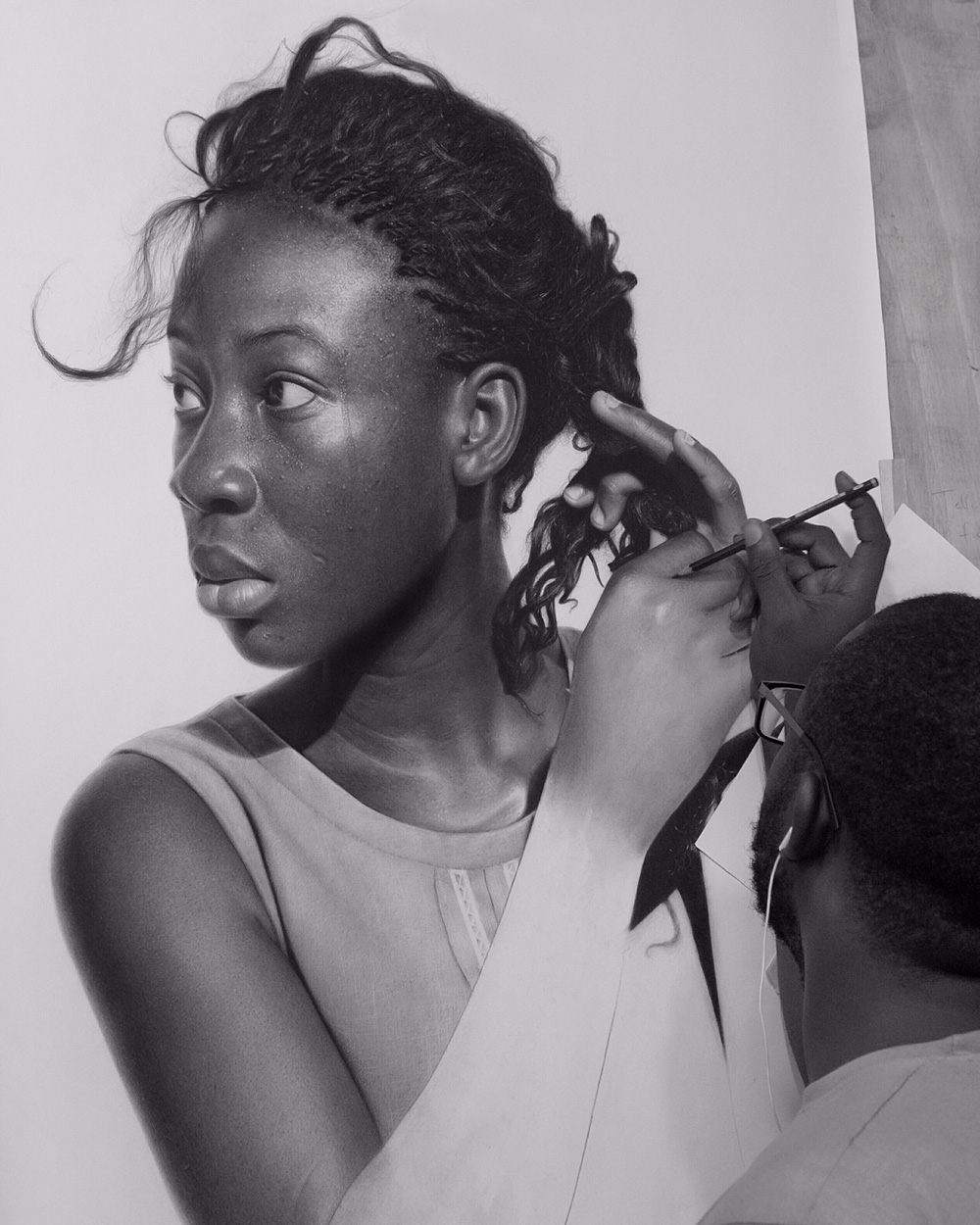 Hyperrealistic Pencil Drawings by Arinze Stanley
