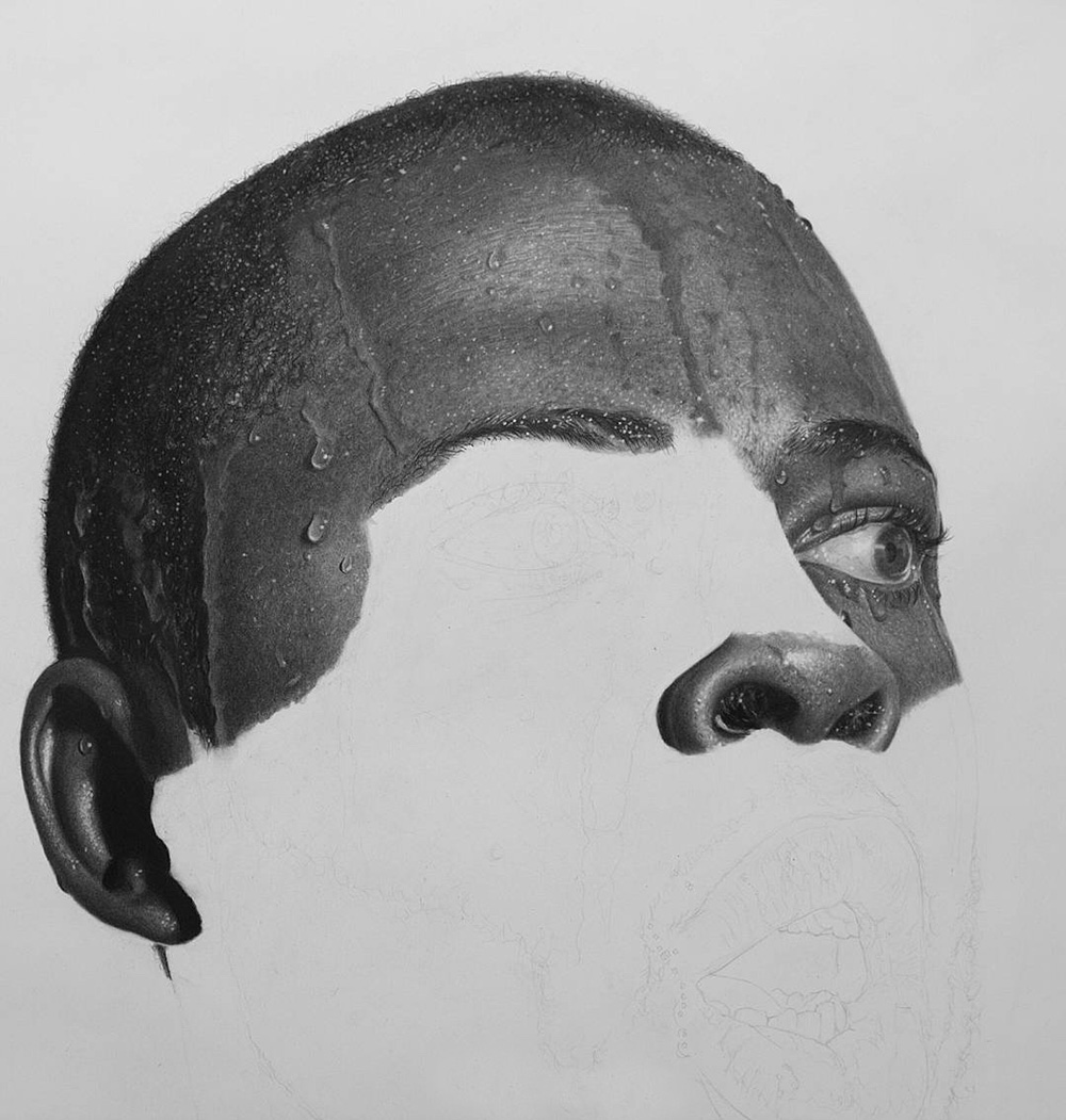 Juxtapoz magazine hyperreal pencil drawings by nigerian