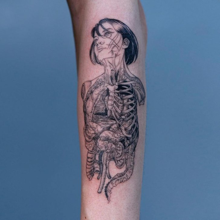 Juxtapoz Magazine Body Horror Tattoos From Oozy