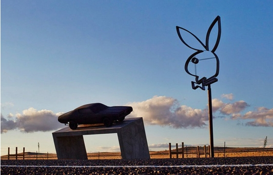 Playboy Marfa roadside attraction