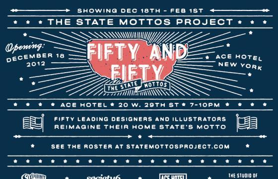 Fifty and Fifty State Mottos Project @ Ace Hotel, NYC