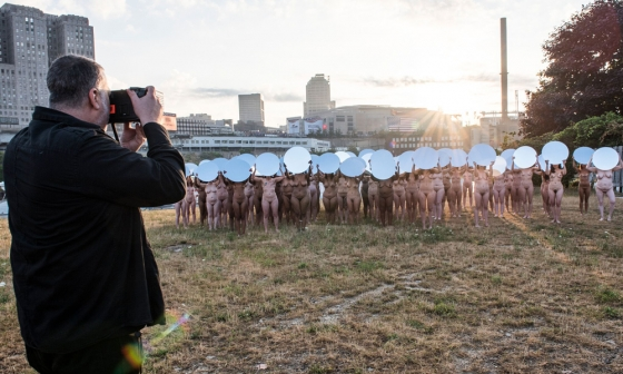 100 Women Pose Nude in Cleveland for the Republican National Convention