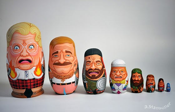 Robin Williams Nesting Dolls