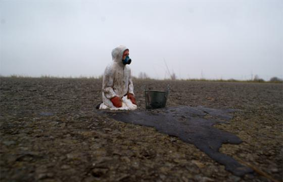 """Waiting for Climate Change""  byIsaac Cordal"