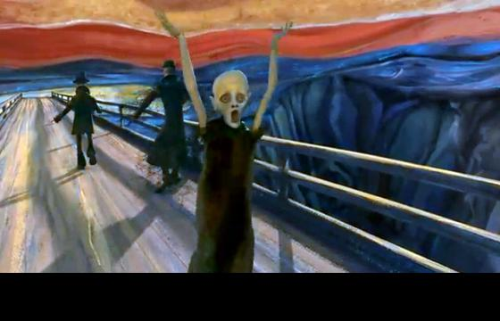 "Sebastian Cosor's Animation of ""The Scream"""
