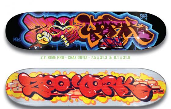 RIME & THESEVENTHLETTER FOR ZOOYORK: Video and Skateboards