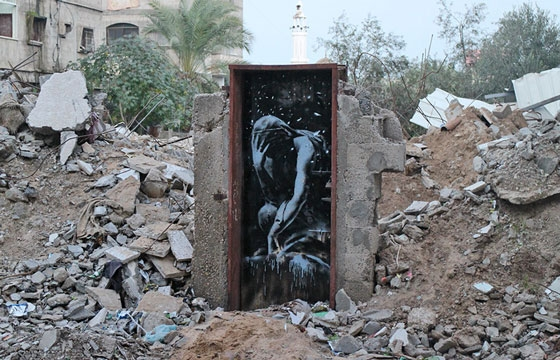 Banksy Shares New Work and Video From Gaza