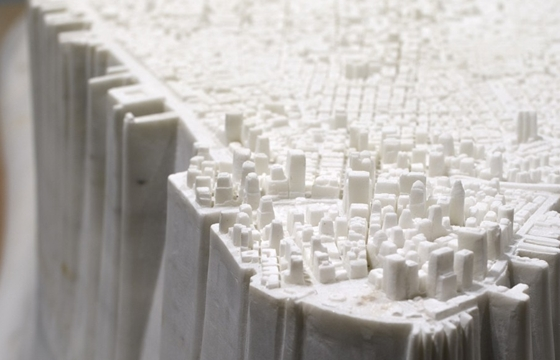 "Yutaka Sone's ""Little Manhattan"" is Carved From Marble"