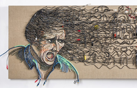 Federico Uribi Paints with Repurposed Electrical Wires
