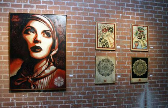 In L.A.: SHEPARD FAIREY MURAL UNVEILING & GROUP EXHIBITION