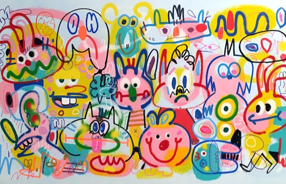 "Juxtapoz Magazine - Jon Burgerman Opens a ""Fun Factory"" @ South Korea's M Contemporary"