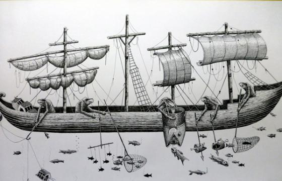 Phlegm's Azores boat drawing
