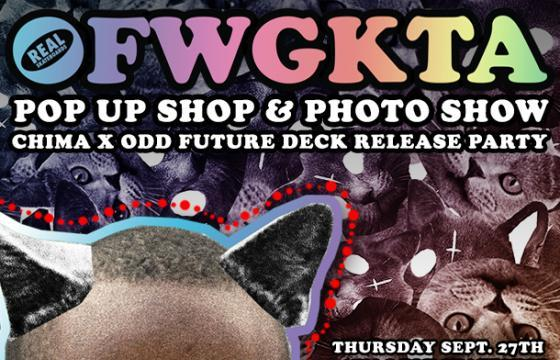 OFWGKTA POP UP SHOP, PHOTO SHOW, and DECK RELEASE