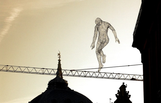 Glowing Wire Sculptures by Cedric Le Borgne