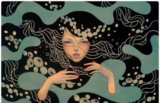 "Print Release: Audrey Kawasaki ""Deep Waters"" & Possessed"""