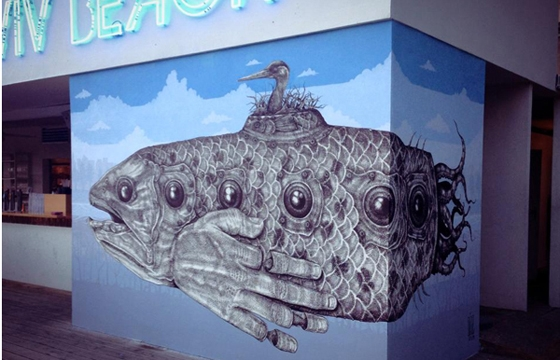2 new murals from Alexis Diaz