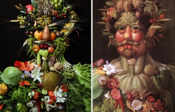 Portraits Made From Food, Plants and other Organics by Klaus Enrique