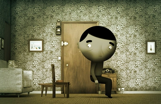 """Skhizein,"" A Short Animation About A Man who is 91cm From Himself"