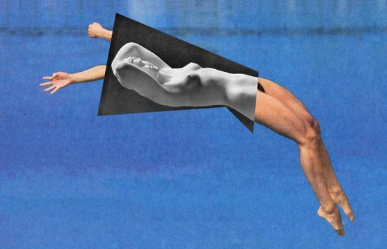 Jens Ullrich's Collage: A Fusion of Contemporary Sports and Classical Sculpture