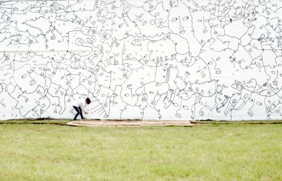 "Juxtapoz Magazine - ""Juxtapoz Black & White"" Book Profile: The Room-Sized Drawings of Shantell Martin"