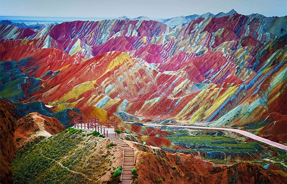 The Colorful Rock Formations of Zhangye Danxia