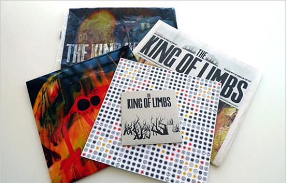 "Stanley Donwood x Radiohead ""The King of Limbs"" Newspaper Album Packaging"