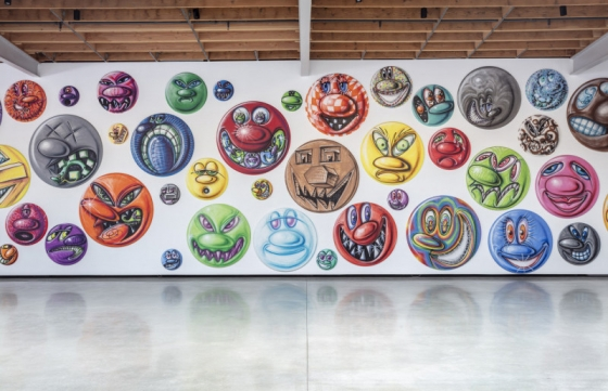 Kenny Scharf's 250 Spray-Painted Faces in