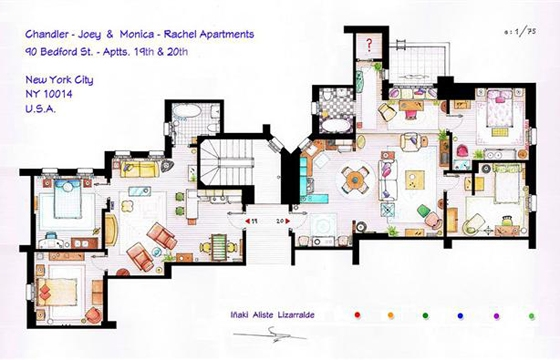 Floor Plans of Famous Television Shows