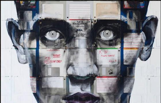 Floppy Disks, Reassembled for Portraits by Nick Gentry