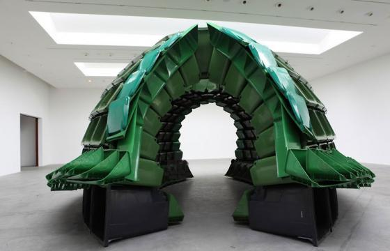 """Carapace,"" Recycling Bin Art by Brian Junger"