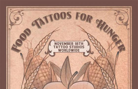 Calling all artists and shops: Food Tattoos for Hunger Benefit