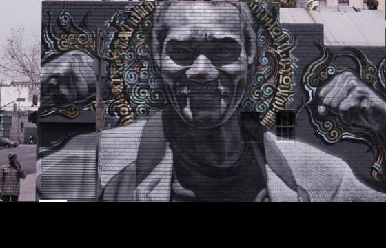 El Mac x RETNA x Estevan Oriol LA Skid Row mural video
